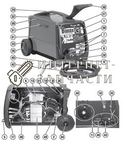 Комплект Чехлов сварочного полуавтомат Telwin BIMAX 4.165 TURBO 981990 - фото 150817