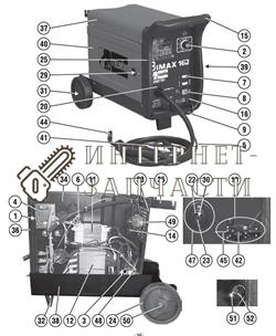 Стопорное Кольцо Колеса сварочного полуавтомат Telwin BIMAX 162 TURBO 322223 - фото 150883