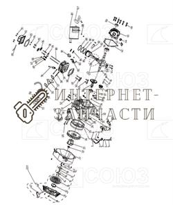 Гайка M6 бензогенератора Союз ЭГС-87300Э-3-2 - фото 151891