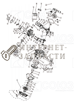 Сухарь Клапана бензогенератора Союз ЭГС-87400-68 - фото 151976