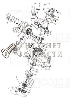 Прокладка Глушителя бензогенератора Союз ЭГС-87400-81 - фото 151981