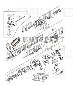 Шестерня большая  перфоратора Союз ПЕС-2585 №18 - фото 152275