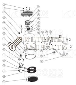 Выключатель тепловентилятора Союз ТПС-2026Г-7 - фото 164147