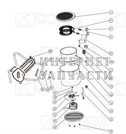Корпус вентилятора тепловентилятора Союз ТПС-2027 - фото 164162