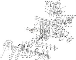 Корпус редуктора (правая часть) снегоуборщика RedVerg RD-24065-10 - фото 164403