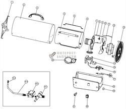Двигатель 220-240V/50Hz/70W  газовой тепловой пушки RedVerg RD-GH30-12 - фото 164813
