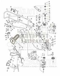 Ручка управления снегоуборщика Sturm STE3431-59 - фото 167171