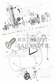 Тройник (М, М, М) компрессора Sturm AC93104.v2.1-40 - фото 167341