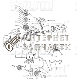 Кольцо стопорное компрессора Sturm AC9316.v1.2-14 - фото 167367