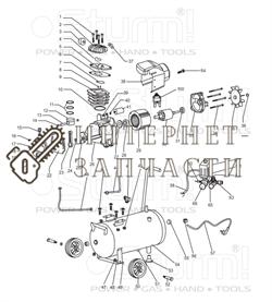 Крышка мотора компрессора Sturm AC9316/16A/165/166-33 - фото 167447