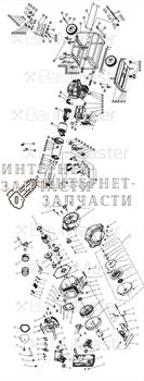 Привод карбюратора в сборе  генератора BauMaster PG-8719WX-2-57 - фото 167777