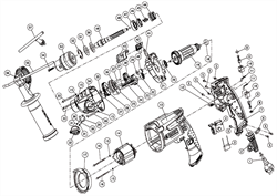 Шнур сетевой Rubber 2x1,0mmb 2m дрели Зубр ЗДУ-1100-2 ЭРМКМ2 (рис.1) - фото 60939