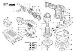 Отсасывающий колпак Suction Hood эксцентриковой шлифмашины Bosch PEX 400 AE (3603CA4000) (рис.33) - фото 61246