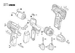 Мотор постоянного тока DC motor шуруповерта Bosch PSR 1080 LI (рис.1802) - фото 61275