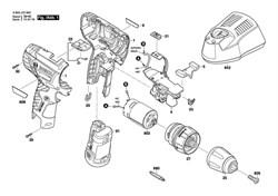 Винт потайной M 6x23 Countersunk-Head Screw M 6x23 шуруповерта Bosch PSR 10,8 LI-2 (3603J72900) (рис.826) - фото 61277