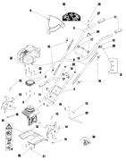 Фреза левая культиватора Pubert MB 31 H (рис.14)