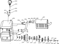Свет затирочной машины Conmec CRT836 (рис.253)
