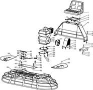 Провод дроссельной заслонки затирочной машины Conmec CRT830 (рис.44)