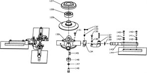 Паук, правая затирочной машины Conmec CRT830 (рис.130)