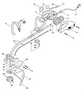 Корпус редуктора триммера Fubag TE1100 (рис. 20)