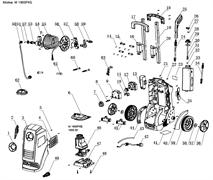 Электродвигатель с помпой в сборе минимойки Elitech М 1900 РКБ (рис.46)