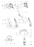 Корпус двигателя триммера Makita UR 3000 (рис. 30)