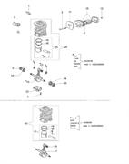 Цилиндр в сборе бензопилы EFCO 140 (рис.26)