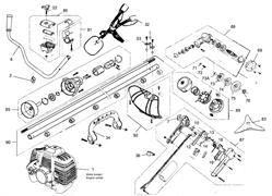 Ручка управления триммера MTD 1033 (рис. 87)