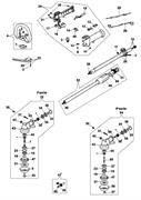Редуктор в сборе триммера Oleo-Mac 725D (рис. 32)