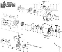Цилиндр триммера Partner T330 PRO (рис. 59)
