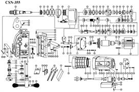 Вал реечного механизма сверлильной машины Diam (CSN-355,350PN) №54