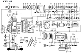 Вал шестерни сверлильной машины Diam (A/N- 254/355) №37