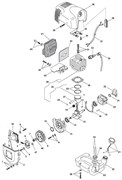 Глушитель триммера Stiga ST 225J (рис. 41)