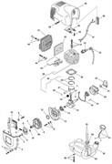 Поршень и цилиндр в сборе триммера Stiga SB 25D (рис. 29)