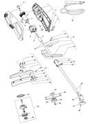 Верхняя часть штанги в сборе триммера Stiga ESB 1000J (рис. 12)