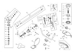 Ручка управления в сборе триммера Sturm BT 9152BL (рис. 56)