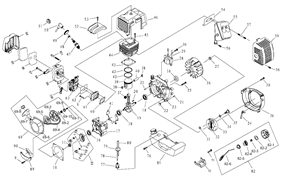 Глушитель триммера Sturm BT 8943 BL (рис. 55)