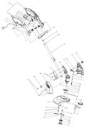 Катушка в сборе триммера Sturm GT 3550L (рис. 47-54)