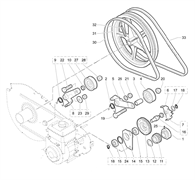 Корпус подшипника культиватора Efco MZ 2095 R (рис. 14)
