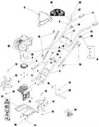 Левая фреза культиватора Caiman MB 33S (рис. 14)