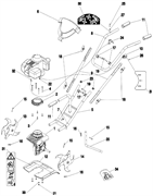 Выключатель культиватора Caiman MB 33S (рис. 10)