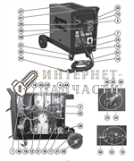 Поддержка сварочного полуавтомат Telwin TELMIG 180/2 TURBO 422817