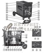 Задняя панель сварочного полуавтомат Telwin TELMIG 180/2 TURBO 644828