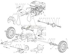 Втулка резиновая  снегоуборщика RedVerg RD-ST65E-3.19