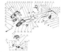 Корпус-накладка правая триммера Энкор ТЭ-1000/38 (рис.51)