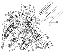 Рукоятка электропилы Энкор ПЦЭ-2400/18Э (рис.14)