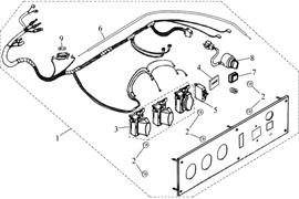 панель в сборе \ CONTROL PANEL бензогенератора Elitech БЭС 12000 Е (рис.1)
