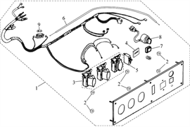 трос привода воздушной заслонки \ CHOKE WIRE бензогенератора Elitech БЭС 12000 Е (рис.6)