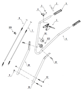 Ручка сцепления культиватора TEXAS TX501 TG (рис. 5)