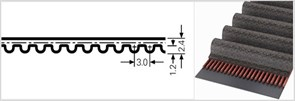 Зубчатый приводной ремень  НТD 393 3М (Ширина ремня: 8 мм,)